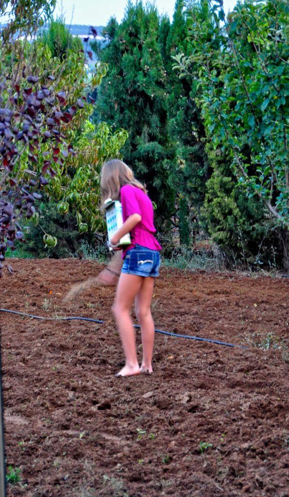 Reka planting seeds